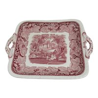 "Mason's Vista Ironstone China 11"" Square Cake Plate"