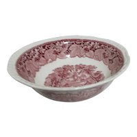 "Mason's Vista Ironstone China 9"" Round Vegetable Bowl with Panel Sides"