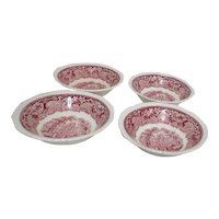 Mason's Vista Ironstone China Coupe Cereal Bowls Set of 4