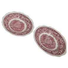 Mason's Vista Ironstone China Set of 2 Soup Bowls