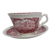 Mason's Vista Ironstone Large Teacup and Saucer