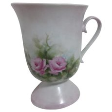 Signed Painted Tea Cup with Roses