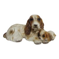 Ceramic Cocker Spaniel and Pup