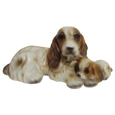 Ceramic Cocker Spaniel and Pup