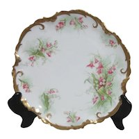 "Coronet Limoges france 8 3/4"" Plate with Heavy Gold Trim"