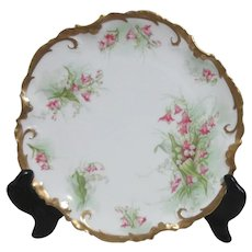 """Coronet Limoges france 8 3/4"""" Plate with Heavy Gold Trim"""