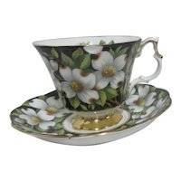 Royal Albert Bone China Cup and Saucer Provincial Flowers Dogwood