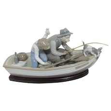 LLadro #5215 Fishing with Gramps  Sculpture