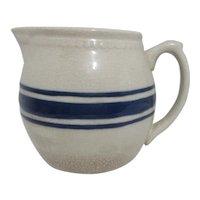 Blue & Cream Unsigned Stoneware Creamer