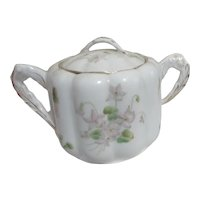 Bavarian China Lidded Sugar Bowl Two Handles