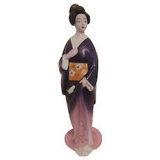 House of Koshu Japanese Plum Wine Ceramic Decanter Geisha Girl Seye China