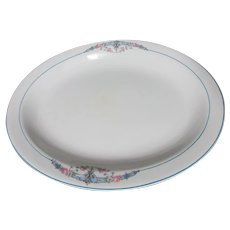 "W.S. George 13"" Platter Derwood Pattern"