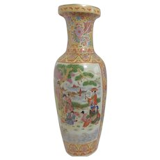 Large Japanese Vase Transferware with Hand Applied Golden Highlights and Trim