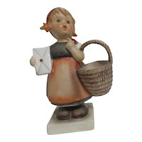 Hummel Young Girl with Letter and Basket 1962