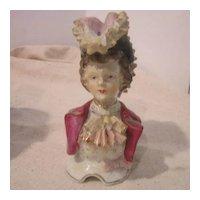 Vintage Porcelain Head and Bust of European Aristocrat