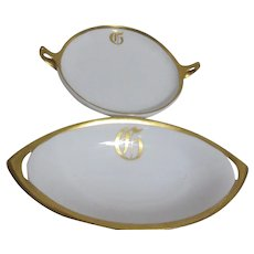 Rosenthal Handled Serving Tray and Relish Platter