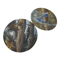 2 Collector Plates by Kevin Daniel 2nd & 9th in Series Birds