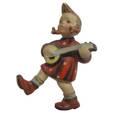 Hummel Figurine Girl with Banjo