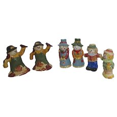 3 Pairs Scarecrow Salt & Pepper Shakers for Autumn