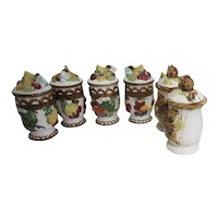 Set of 3 Pairs of Salt & Pepper Shakers Autumn Theme