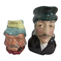 """Set of Two Small Toby Jugs by Kelsboro Ware"""" Gaffer & The Colonel"""""""
