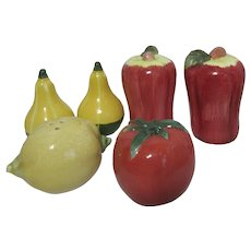 Set of 3 Pairs Vegetable and Fruit Salt & Pepper Shakers