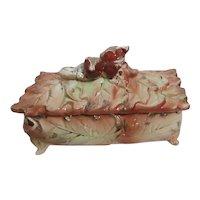 Fancy Ceramic Autumn Lidded Box