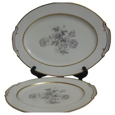 """Noritake """"Mystery 165"""" Large and Small Platters"""