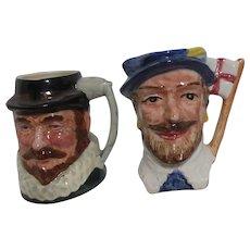 Royal Doulton Pair of Small Toby Mugs