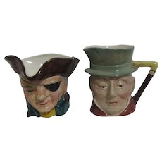 Pair of Toby Jugs Unmarked