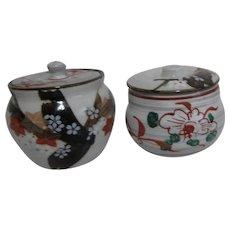 Set of Two Small Lidded Trinket Jars
