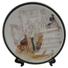 """Vernon Kilns French Reproductions 14"""" Plate Barber of Seville"""
