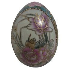 Ceramic Egg Hand Painted and Hand Decorated