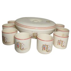 Universal Cambridge Tom & Jerry Set with Lidded Bowl & 8 cups