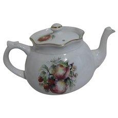 Arthur Wood & Son Signed Teapot Apples & Blossoms