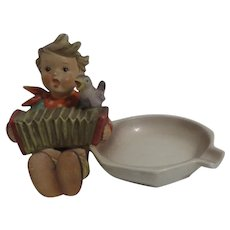 Hummel Little Boy with Accordion Ashtray from West Germany
