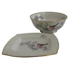 Lenox Bowl and Small Tray Serenade Pattern