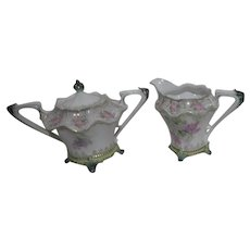 RS Prussia Footed Cream & Sugar Set