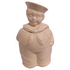 Unmarked Sailor Boy Cookie Jar