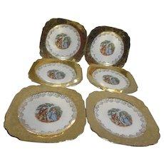 Atlas China of New York Set of 6 Bread & Butter/Dessert Plates