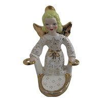 Yong Original Ceramic Angel Candle/Small Plant Wall Hanging Holder
