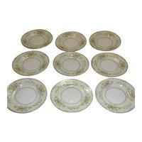 STS (Kong) Pattern KON 6 Set of 9 Bread & Butter /Dessert Plates