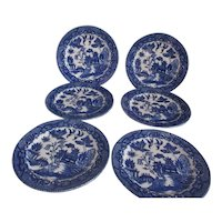Blue Willow Made Set of 6 Bread & Butter/Dessert Plates
