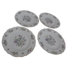 Franconia Krautheim Millefleurs Pattern Set of 4 Bread & Butter or Dessert Plates