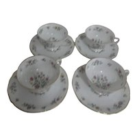 Franconia Krautheim Millefleurs Pattern Set of 4 Cups and Saucers
