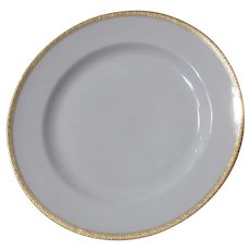 Haviland H4021 Dinner Plate White with Embossed Trim