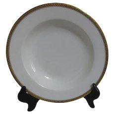 Haviland H4021 Soup Bowl White with Embossed Trim