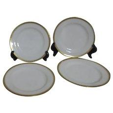 Haviland H4021 Set of 4 B& B /Dessert Plates White with Embossed Trim
