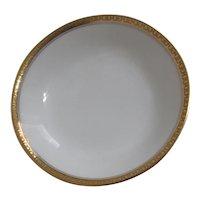 Haviland H4021  Berry Bowl/Dessert Bowl White with Embossed Trim