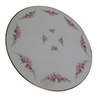 Cake Plate with Gold Trim nd Roses from Germany